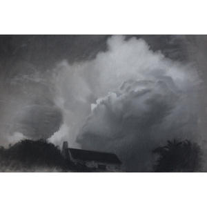 Storm is coming, charcoal and pastel